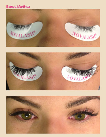 before and after eyelashes from Lashes by Bianca