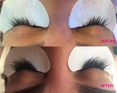 before and after at Salon Francesca Mastalka