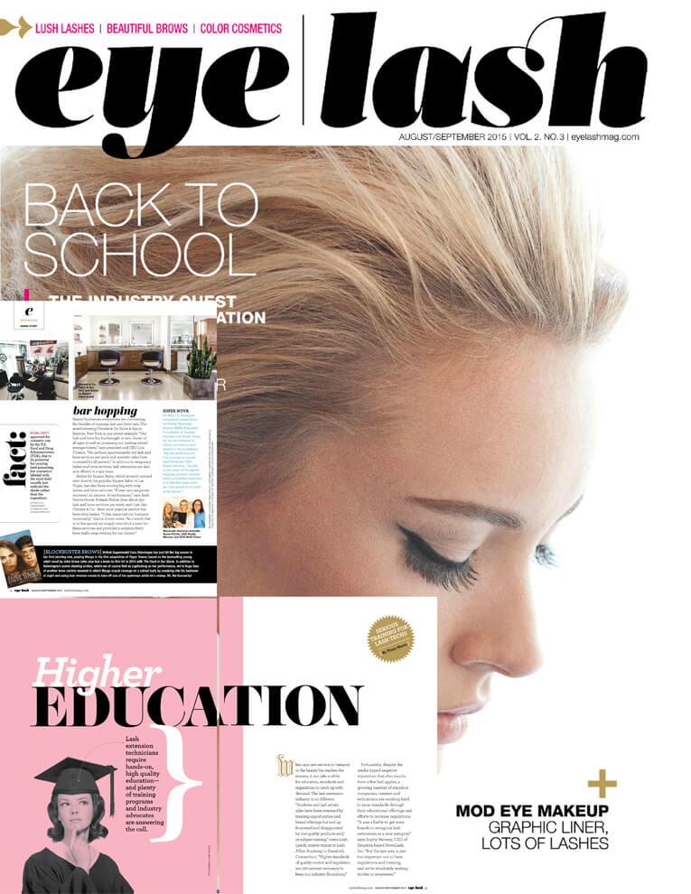 eyelash magazine August and September 2015 edition