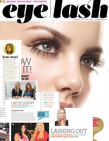 eyelash magazine June and July 2015 edition