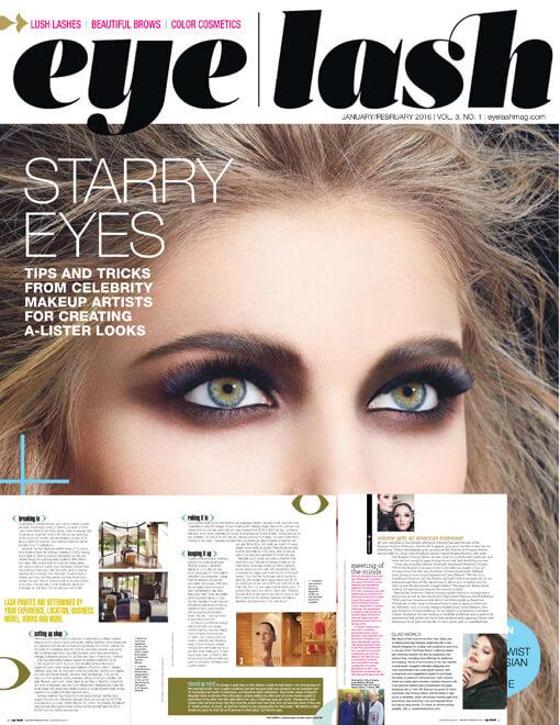 eyelash magazine January and February 2016 edition