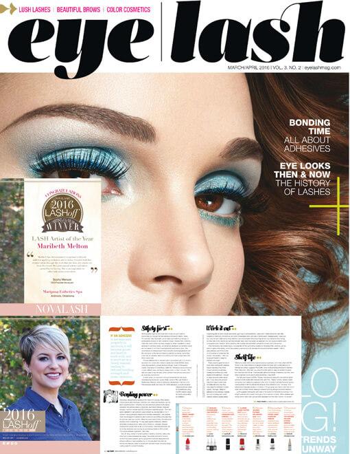 eyelash magazine March and April 2016 edition