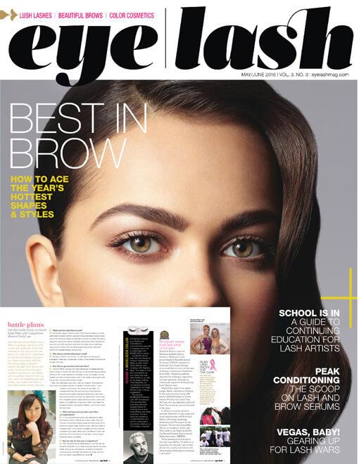 eyelash magazine May and June 2016 edition