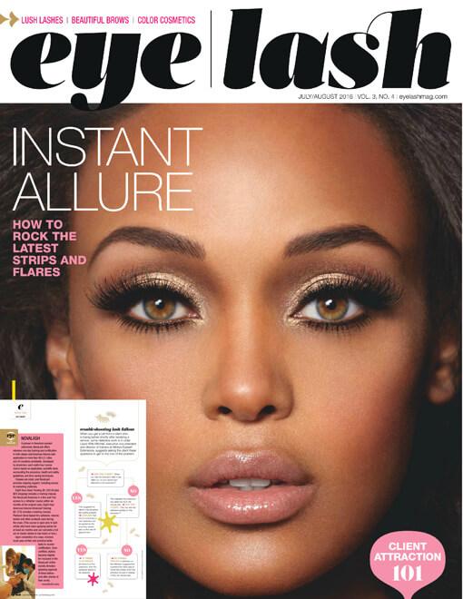 eyelash magazine July and August 2016 edition