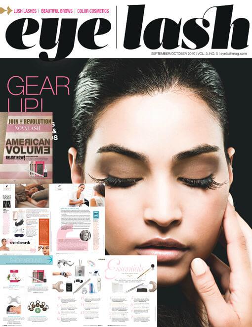 eyelash magazine September and October 2016 edition