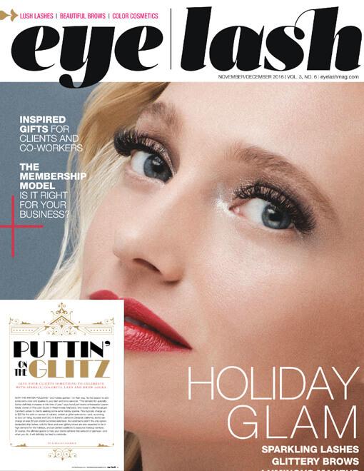 eyelash magazine November and December 2016 edition