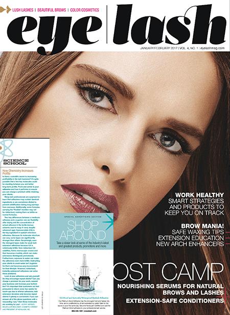 eyelash magazine January and February 2017 edition
