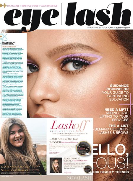 eyelash magazine March and April 2017 edition