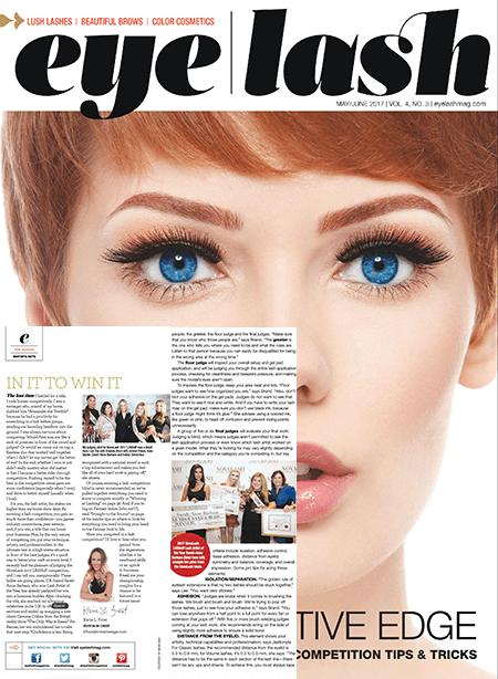 eyelash magazine May and June 2017 edition
