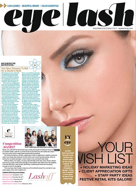 eyelash magazine November and December 2017 edition