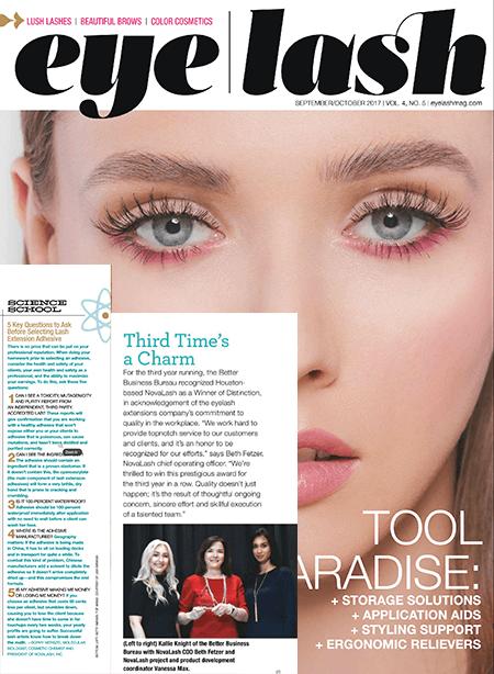 eyelash magazine September and October 2017 edition