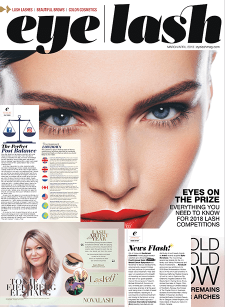 eyelash magazine March and April 2018 edition