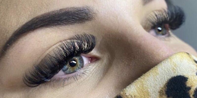 Dark eyelash closeup