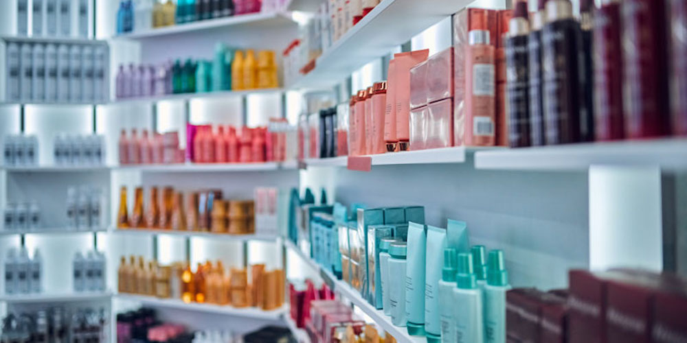cosmetic product wall