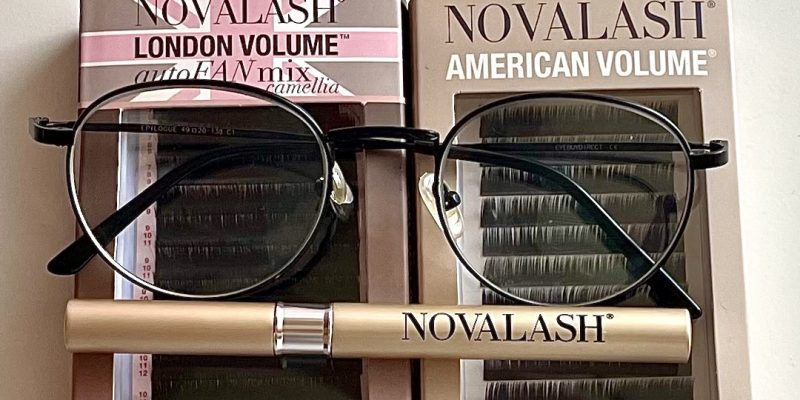 Novalash contact lenses & glasses with lash extensions